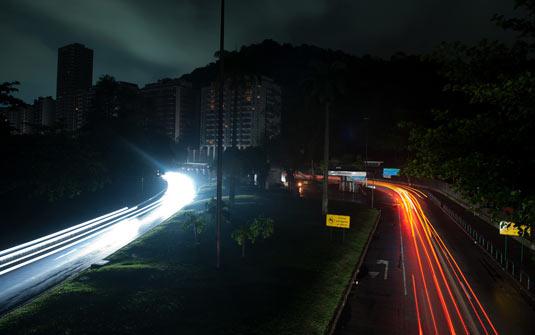 Las calles de Río quedaron a oscuras