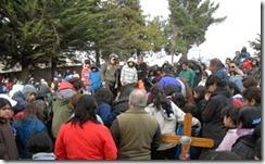 Télam Bariloche 19/06/2010 - Se vivieron momentos de intenso dolor en el entierro de Diego Bonefoi (15), baleado en la cabeza por un cabo de la Comisaría 28 hace dos días. Foto: Alejandra Bartoliche/Télam/cl