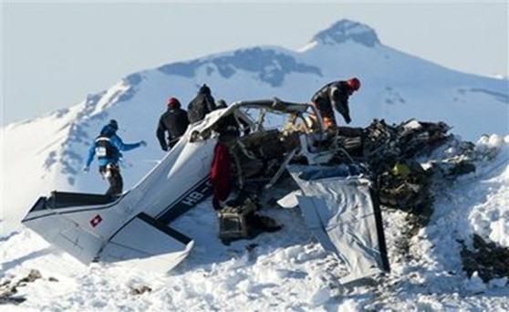 5 muertos en accidente de avioneta en los Alpes