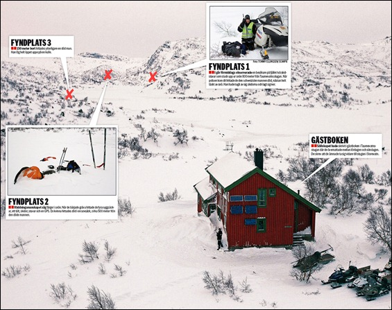 3 turistas mueren congelados en Rogaland