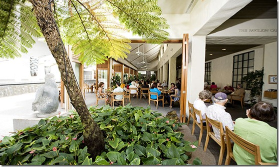 Honolulu Academy of Arts' Pavilion Cafe.