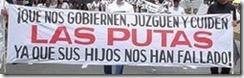 putas_ Pancarta en Argentina
