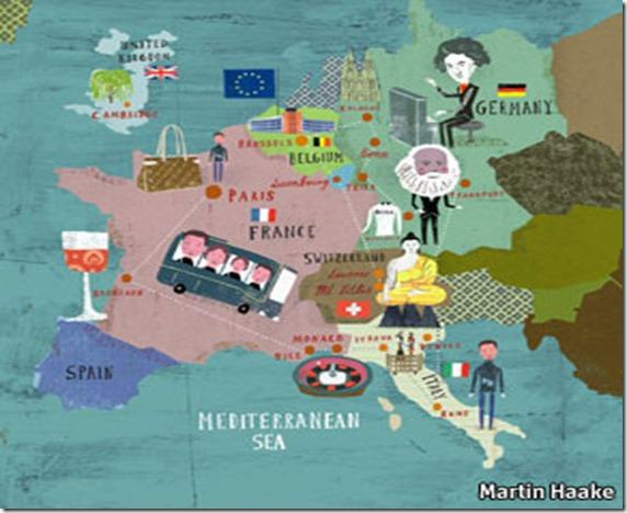 ruta de turistas chinos por europa