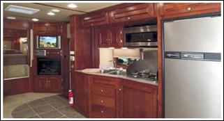 b Luxurious Stratus Horse Trailer Kitchen