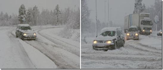 Nieve en Norrbotten 7 octubre 2011