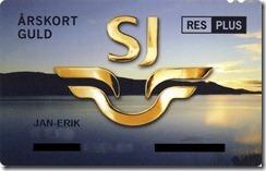 SJ Årskort Guld