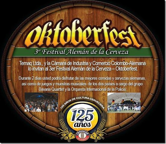 Oktoberfest, por tercera vez en Bogotá