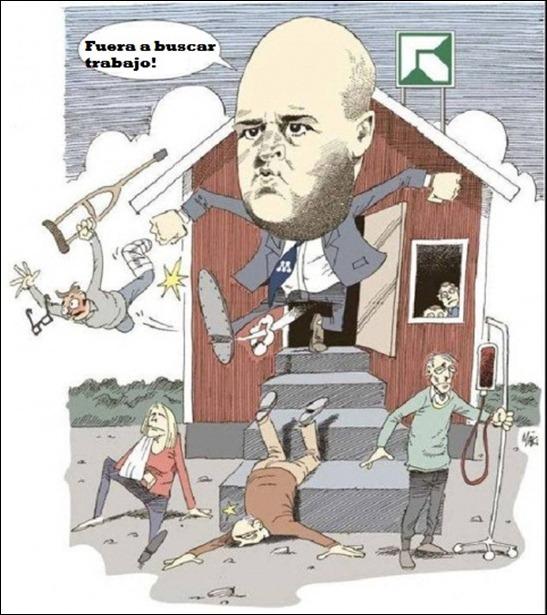 línea de trabajo del partido moderado de fredrik reinfeldt