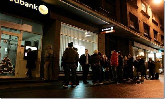 Swedbank Riga Colas en los cajeros