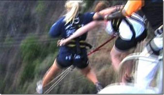 Zambiano tira a dos noruegas al vacío mientras se preparaban para saltar