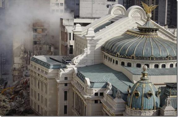 Derrumbe de edificios en Río