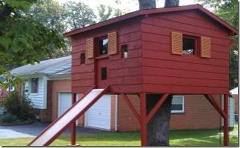 Mark Grapin consiguió conservar la 'casa de árbol'