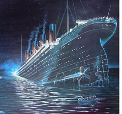 Subastan menú de la última cena del Titanic