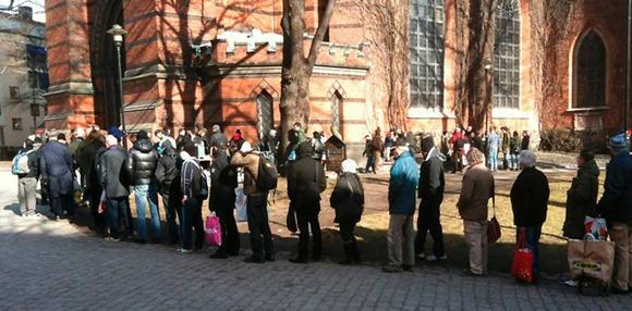 soppköket utanför St a Clara kyrka i Stockholm - FOTO Henrik Westman