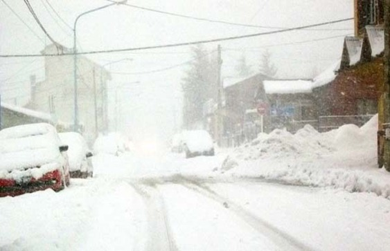 Ushuaia paralizada por las nevadas