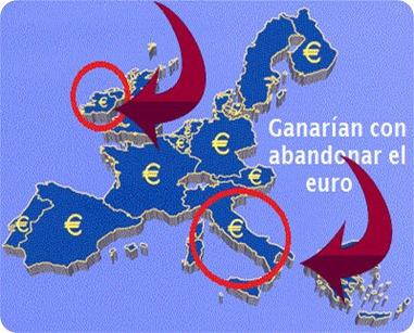 Los países que más se beneficiarían de abandonar el euro