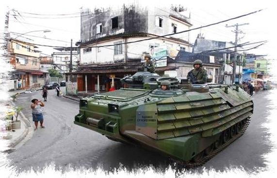 Ocupação na favela de Manguinhos e do Jacarezinho