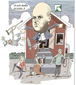 Reinfeldt sparkar ut svårt sjuka