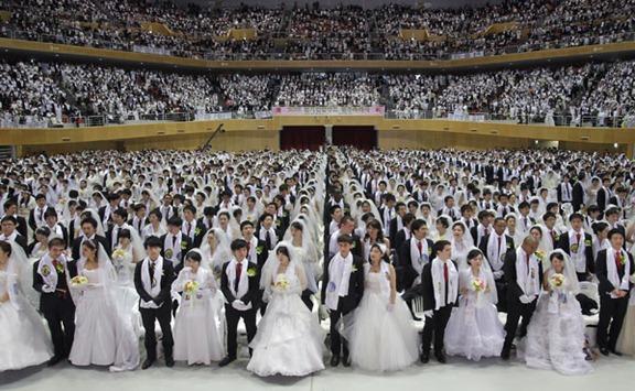 3.500 parejas se casan en Corea del Sur