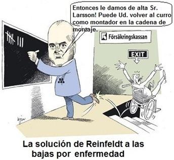 Fredrik Reinfeldt y su solución a las bajas por enfermedad