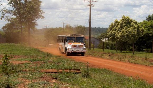 Paraguay-carreteras 'rojas'