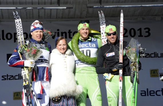 Jörgen Aukland y Laila Kveli Noruega, ganador y ganadora Vasaloppet 2013