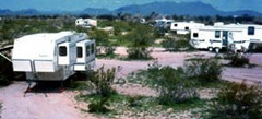 BLM undesignated campsites near Why, AZ