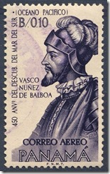 Sello - Vasco Nuuñez de Balboa