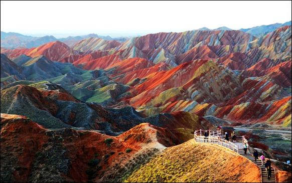 GYE DANXIA parque geológico en Gansu, China
