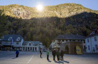 Espejos solares iluminan Rjukan