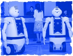 Rullande robotar kallade EMIEW, Hitachi  2006-
