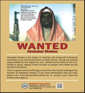 Boko Haram_Shekau WANTED