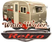 WHITE WATER Retro travel trailer
