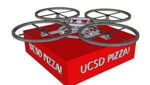 UCSD's pizza idea - Drone delivers
