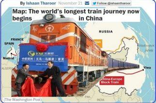 """""""Yixin'ou"""", el tren de carga Yiwu-Madrid, entró en funcionamiento"""