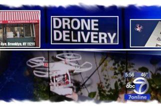 WILLIAMSBURG PIZZA de Brooklyn reparte pizza con drone