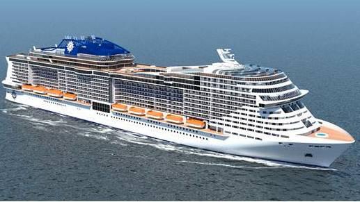 MSC-2 nuevos buques mayores que los buques iphones, 5700 pasajeros