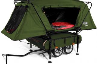 En lugar de caravana: KAMP-RITE Bushtrekka Bicycle Camper Trailer