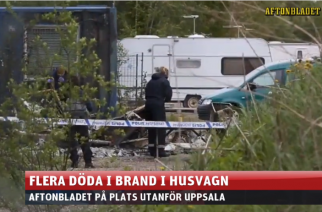 Tres muertos en incendio de caravana