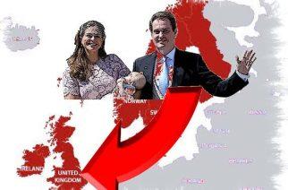 """Chris O'Neill y Madeleine """"huyen"""" de Suecia a Gran Bretaña"""