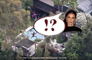 Hallan cadáver de un jóven en la piscina de Demi Moore