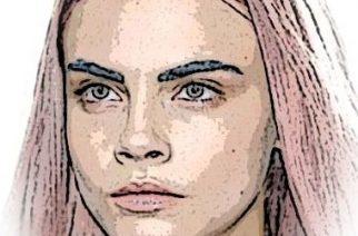 Cara Delevinge y sus cejas azules