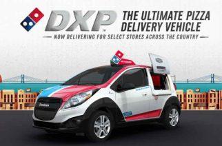 Pizzas calentitas con el Chevrolet Spark Domino's Delivery Car