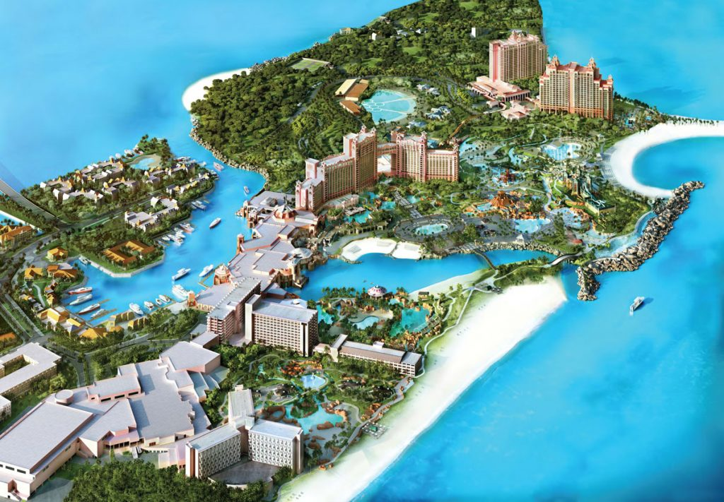 atlantis resort-map