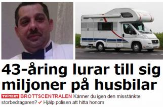 Ragnar Demetri: Estafador de autocaravanas