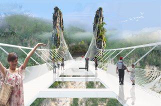 El puente de cristal más alto y largo del mundo OBLIGADO A CERRAR!