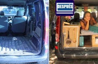 Marina, 25, restauró su furgo – y se mudó a su interior