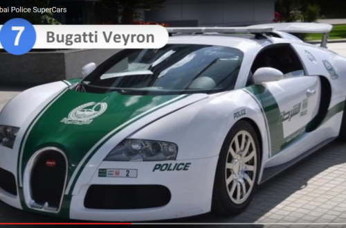 Nadie escapa de los coches de policía de Dubai