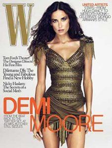 Demi Moore sin cadera izquierda