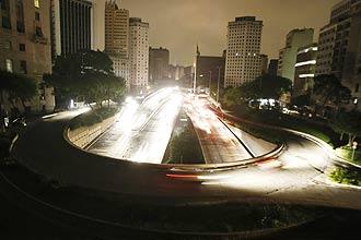 Aspecto que ofrecía São Paulo. Foto: Rubens Cavallari/Folha Imagem